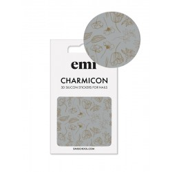 Charmicon 3D Silicone Stickers 178 Golden Flowers