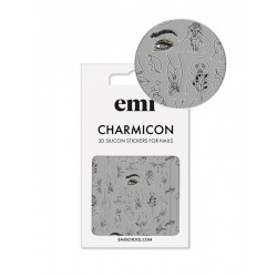 Charmicon 3D Silicone Stickers 173 Silhouettes