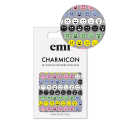 Charmicon 3D Silicone Stickers 197 Сolored Smiles