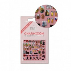 Charmicon 3D Silikoniniai lipdukai Czech Nr. 2
