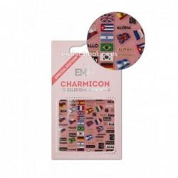 Charmicon 3D Silikoniniai lipdukai Flags/Hello