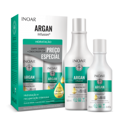 INOAR Argan Hydrating Duo Kit - plaukus...